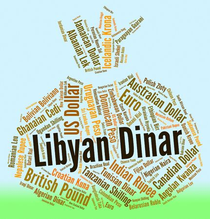 dinar: Libyan Dinar Indicating Foreign Currency And Banknotes