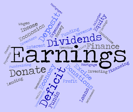 earnings: Earnings Word wordcloud