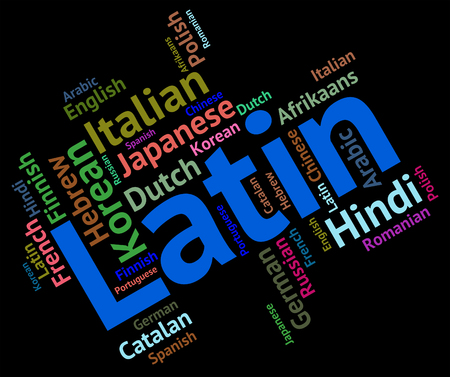 latin language: Latin Language wordcloud