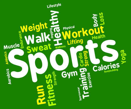 get a workout: Sports Word wordcloud