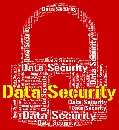 datensicherheit: Data Security Wordcloud Lizenzfreie Bilder