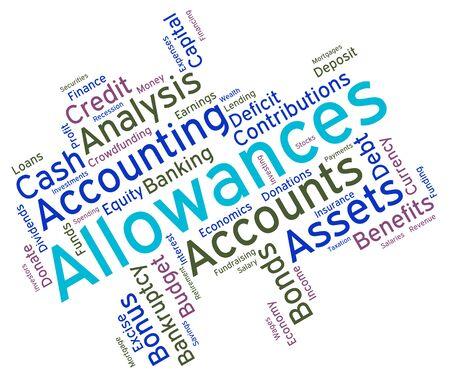 wordcloud: Allowances Word wordcloud