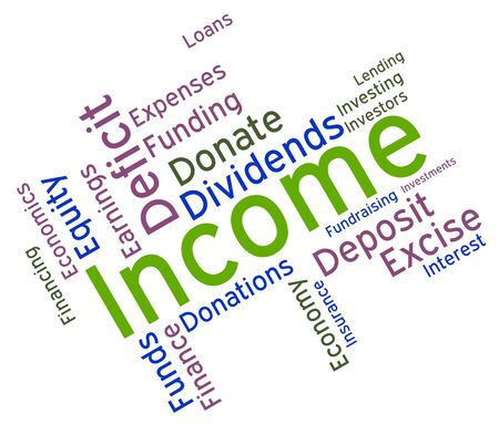 earns: Income Word wordcloud Stock Photo
