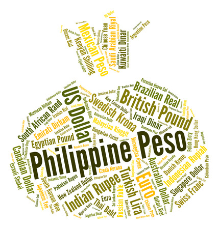 peso: Philippine Peso wordcloud Stock Photo