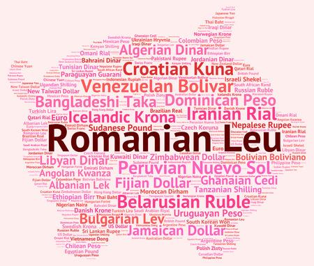 leu: Leu rumeno wordcloud Archivio Fotografico