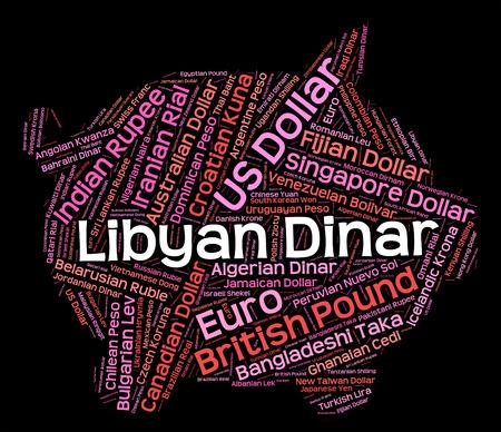 wordcloud: Libyan Dinar wordcloud