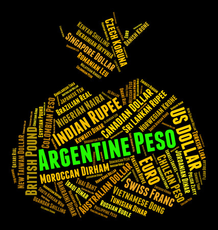 peso: Argentine Peso wordcloud Stock Photo