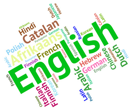 lingo: English Language wordcloud Stock Photo