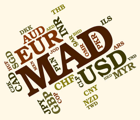 dirham: Mad Currency wordcloud Stock Photo