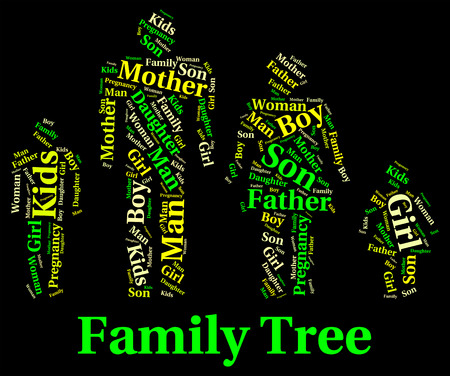 parentage: Family Tree wordcloud