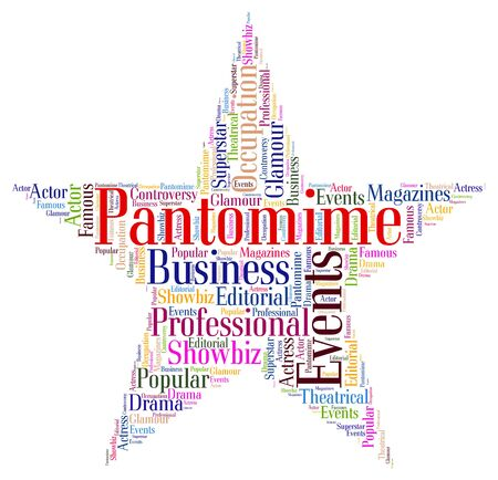 wordcloud: Pantomime Star wordcloud Stock Photo