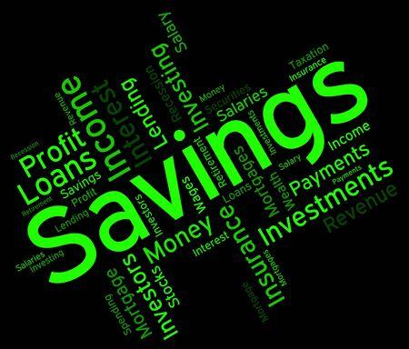 wordcloud: Savings Word wordcloud