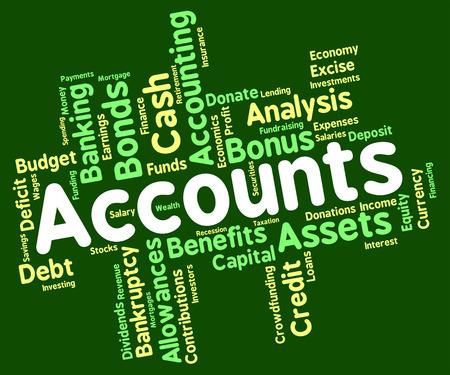 wordcloud: Accounts Words wordcloud Stock Photo