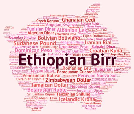 ethiopian: Ethiopian Birr Indicating Forex Trading And Currencies