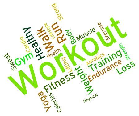 ejercicio aeróbico: Palabras del entrenamiento wordcloud Foto de archivo