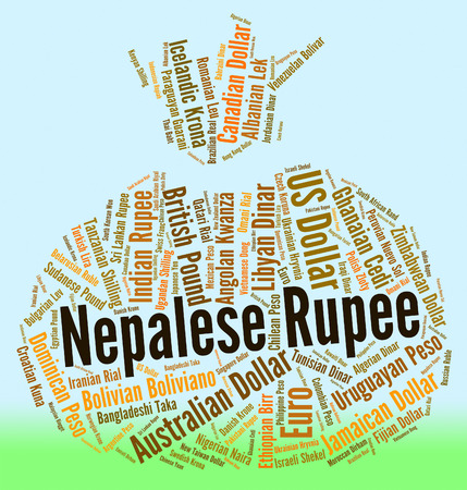currency exchange: Nepalese Rupee Representing Currency Exchange And Banknote