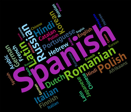 spanish language: Spanish Language Representing Translator Foreign And International Stock Photo