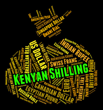 shilling: Kenyan Shilling Meaning Foreign Exchange And Wordcloud Stock Photo