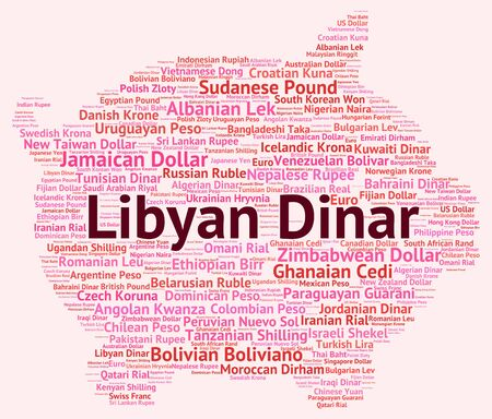dinar: Libyan Dinar Meaning Foreign Currency And Wordcloud