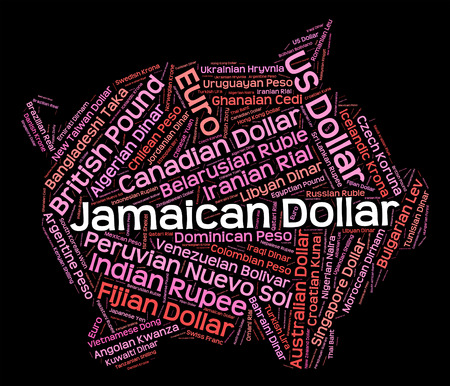 coinage: Jamaican Dollar Indicating Currency Exchange And Foreign Stock Photo