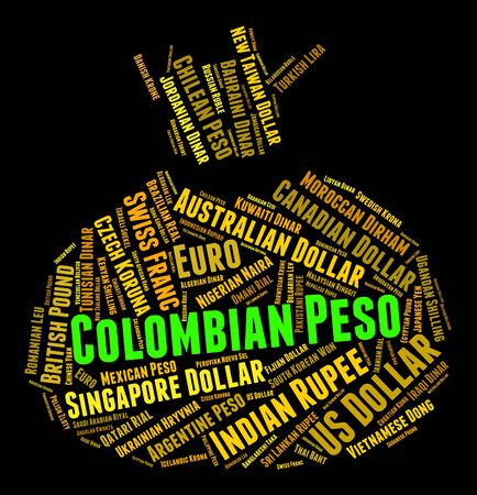 peso: Colombian Peso Representing Worldwide Trading And Banknotes