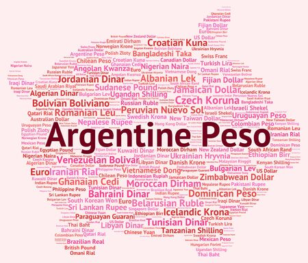 coinage: Argentine Peso Meaning Exchange Rate And Banknotes Stock Photo