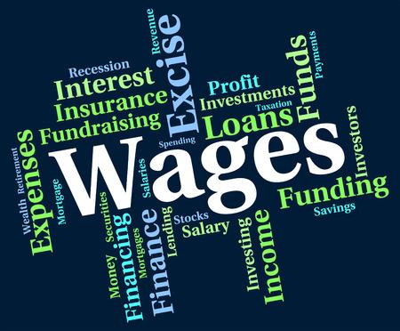 salarios: Salarios Palabra Significado gana ingresos y empleado