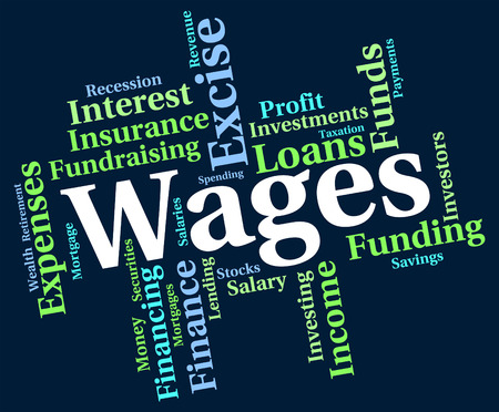 earns: Wages Word Meaning Earns Incomes And Employed