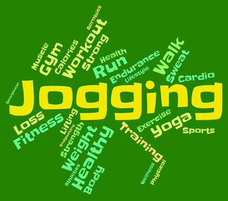 get a workout: Jogging Word Meaning Run Running And Words