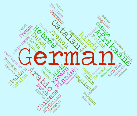 vocabulary: German Language Representing Vocabulary Text And Foreign