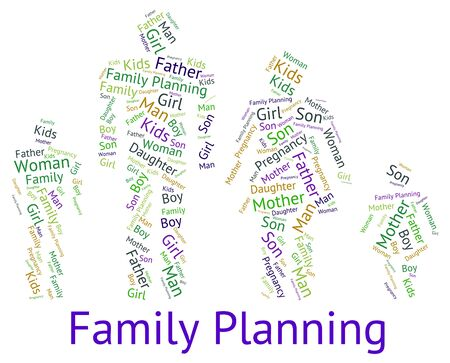 family planning: Family Planning Showing Blood Relation And Children