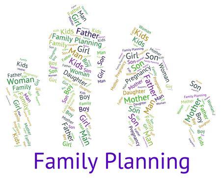 planificacion familiar: Planificaci�n Familiar Mostrando Relaci�n Sangre y ni�os Foto de archivo