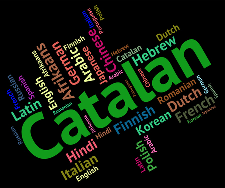 lingo: Catalan Language Showing Word Catalonia And Translator
