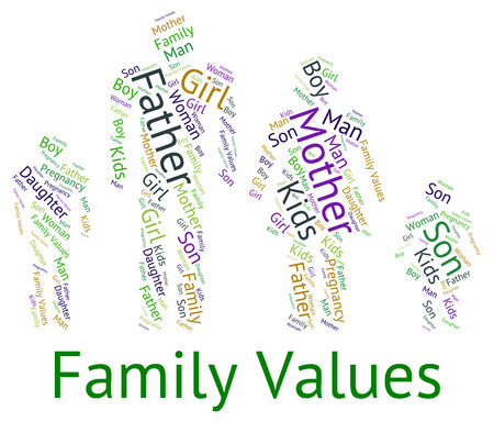 relative: Family Values Indicating Blood Relative And Standards