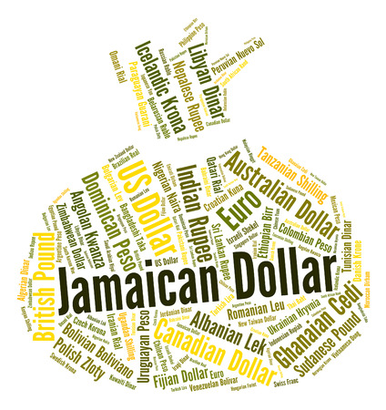 foreign exchange: Jamaican Dollar Meaning Foreign Exchange And Wordcloud Stock Photo