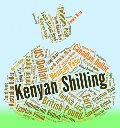 shilling: Kenyan Shilling Showing Exchange Rate And Text Stock Photo