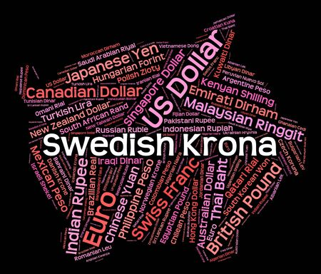 foreign currency: Swedish Krona Showing Foreign Currency And Sek Stock Photo
