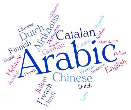 lingo: Arabic Language Indicating Vocabulary Arabia And Languages