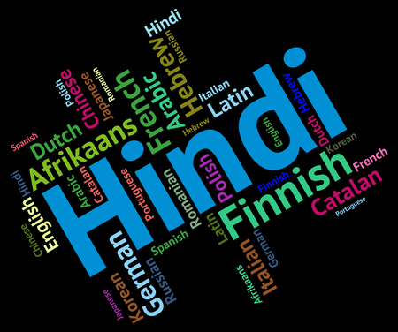 lingo: Hindi Language Representing Words India And Languages