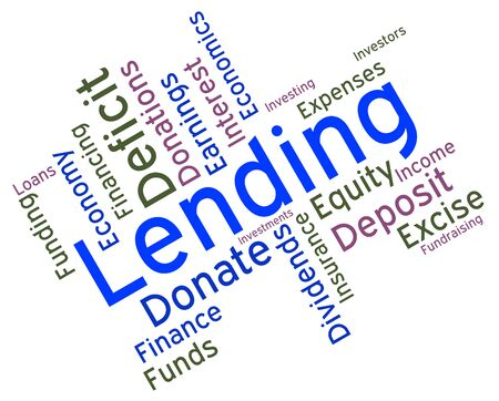 loaning: Lending Word Indicating Borrowing Text And Loans