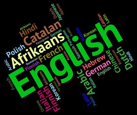 lingo: English Language Showing International Translator And Word Stock Photo