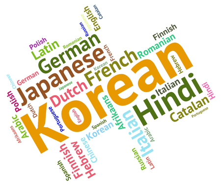 lingo: Korean Language Indicating Vocabulary Text And Translate Stock Photo
