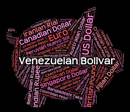 такса: Venezuelan Bolivar Showing Exchange Rate And Foreign