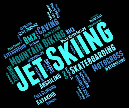 personal watercraft: Jet Skiing Indicating Personal Water Craft And Personal Watercraft