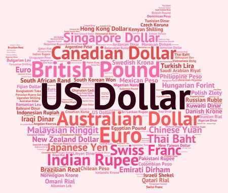 currency exchange: Us Dollar Representing Currency Exchange And Currencies