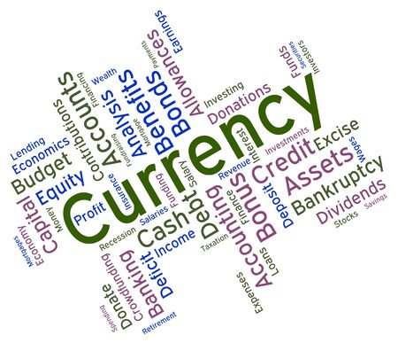 foreign exchange: Currency Word Showing Foreign Exchange And Market
