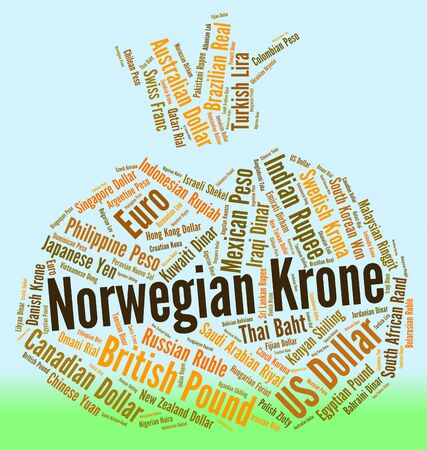 fx: Norwegian Krone Representing Currency Exchange And Fx