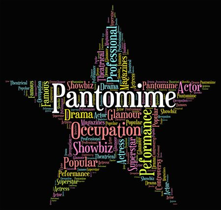 Pantomime Star Showing Drama Melodrama And Text