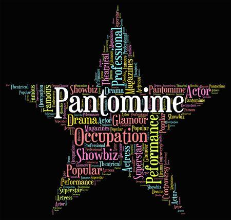 pantomime: Pantomime Star Showing Drama Melodrama And Text