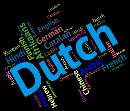 lingo: Dutch Language Representing The Netherlands And Communication Stock Photo